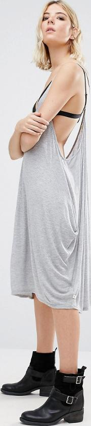 jancy cami dress with draped sides