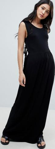 madelyn side tie maxi dress
