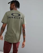 50 bark t shirt back logo print  dark green