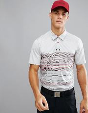 Golf High Crest Polo Varied Stripe Regular Fit In