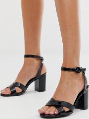Heeled Sandals With Cross Strap