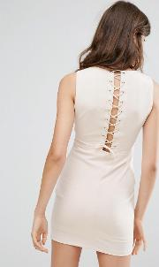 dress with lace up back