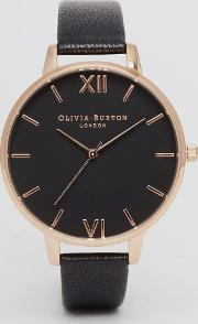 Ob15bd66 Big Dial Leather Watch