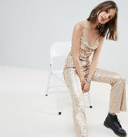 flares in sequin co ord