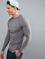 active slim fit long sleeve  shirt in grey