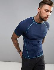 active slim fit short sleeve  shirt in blue