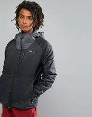 activewear kinetic insulated windbreaker jacket  black
