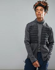 activewear kinetic quilted sweat jacket