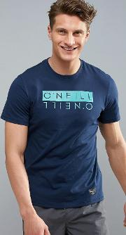 o'neill duo hybrid logo t shirt in blue