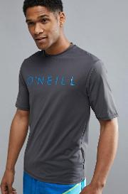 o'neill pioneer slim fit  shirt with front logo and high neck detail in grey