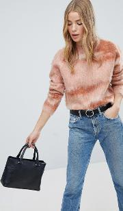 High Neck Brushed Textured Jumper