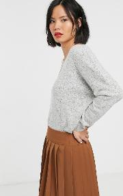 Knitted Wide Neck Jumper