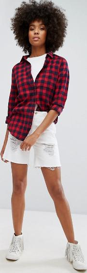 Low Boyfriend Short With Rips