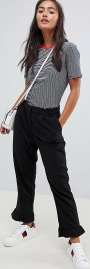 michelle frill hem trousers