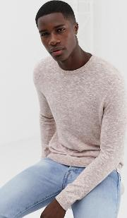 Knitted Jumper With Fleck Detail