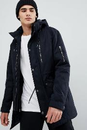 Padded Parka With Multi Pockets