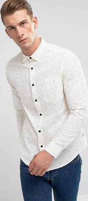 shirt in slim fit all over ditsy print