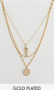 Plated Key Cluster Layering Necklace