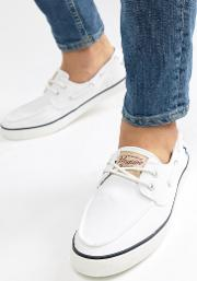 boat shoes in white