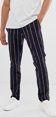 Bold Stripe Trouser Chinos Slim Fit