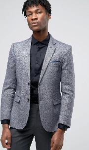formal navy and white textured jacket