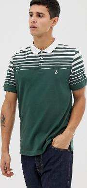 Icon Logo Graduated Stripe Polo