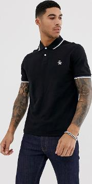 Slim Fit Tipped Pique Polo