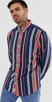Striped Shirt With Button Down Collar