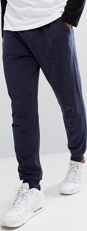 towelling joggers  navy
