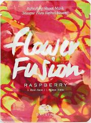flower fusion refreshing sheet mask raspberry