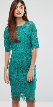 paperdolls lace dress with high neck