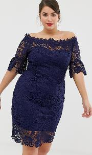 All Over Lace Bardot Dress