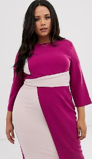 Sleeveless Asymmetric Pencil Dress