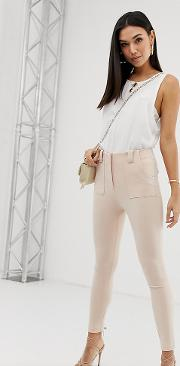 Skinny Structured Trousers