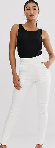 Skinny Trousers With Zip Ankle