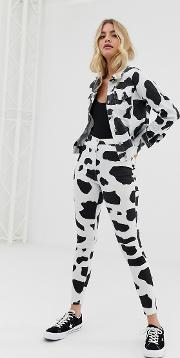 Cow Print Jeggings