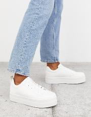 Flatform Lace Up Trainers
