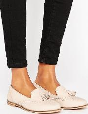 leather mix loafers