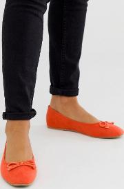 Square Toe Ballet Flat Shoe