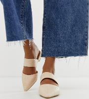 Woven Pointed Mules