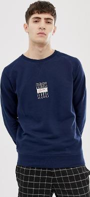 Edgar Sweatshirt With Embroidered Sport Script Logo