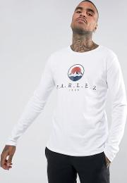Long Sleeve T Shirt With Mountain Logo