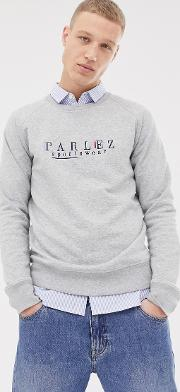 Sweatshirt With Embroidered Sportswear Chest Logo