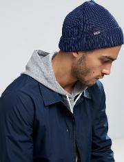 Fishermans Rolled Beanie In Navy