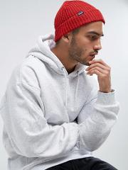 a0cefe75c242d Fishermans Rolled Beanie In Red. patagonia
