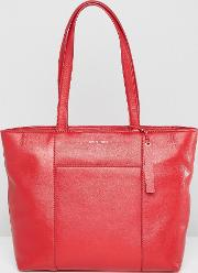 real leather clean tote bag