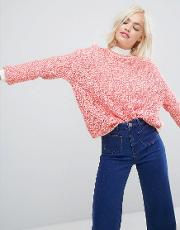 sister coral knitted jumper