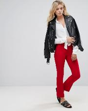 Basi Red Tailored Trousers