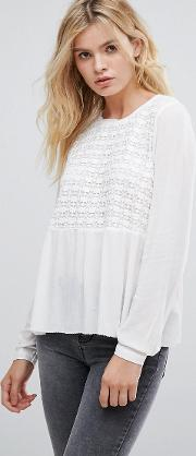 Gaynor Embroidered Front Blouse