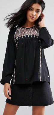 stelle embroidered blouse